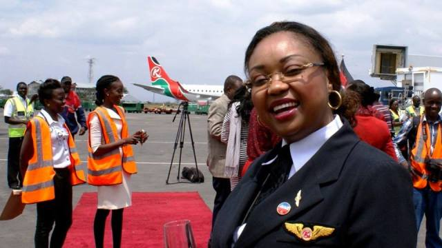 10502346_10152711173882387_4099950721137623642_n Congratulations to Kenya's first female pilot and Kenya Airways Captain Irene Koki Mutungi